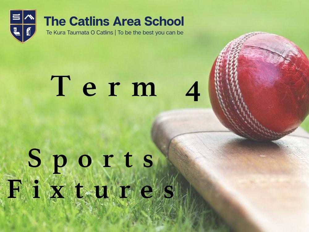 Term 4 Sport Fixtures