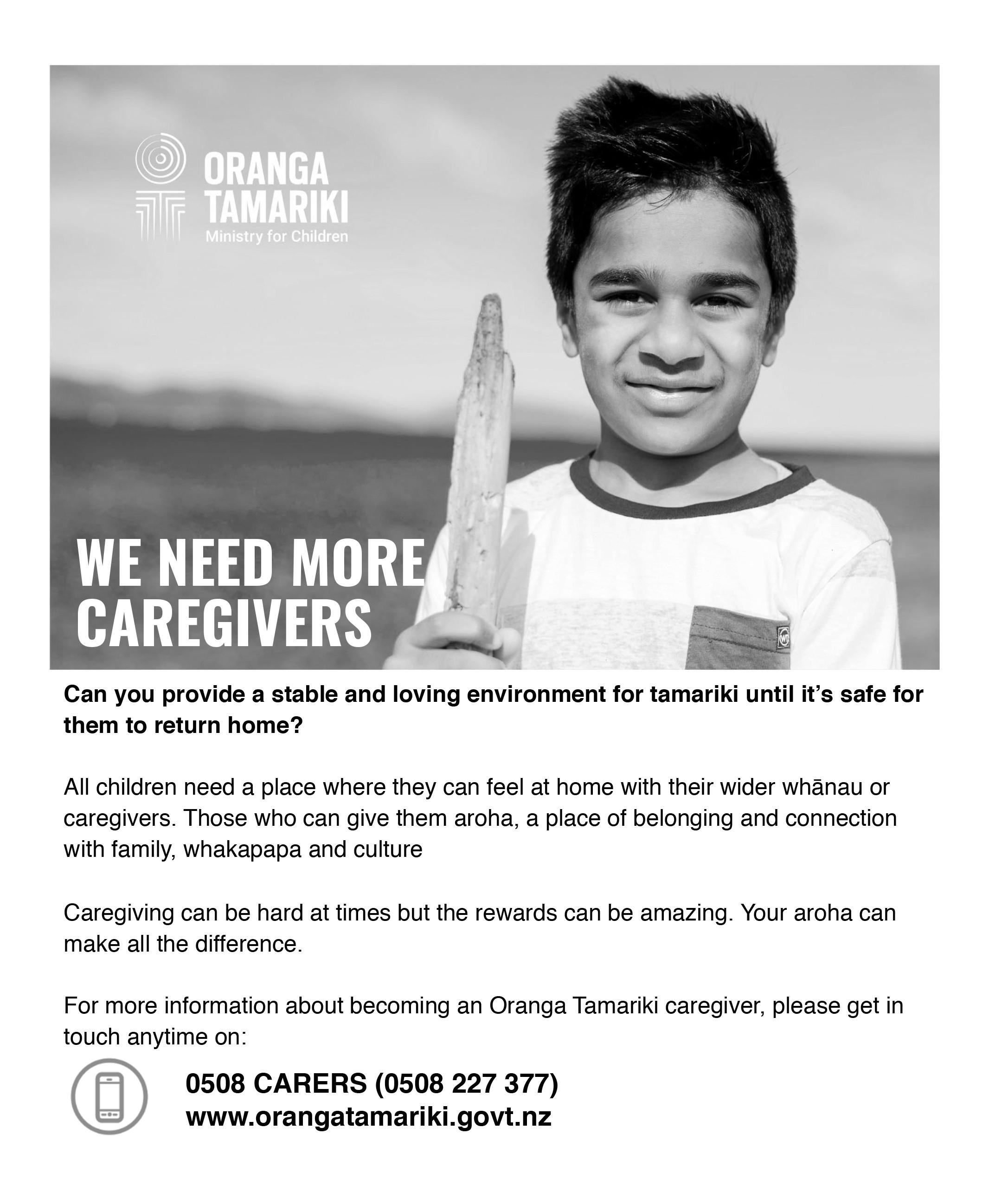 Caregiver Flyer For Newsletter