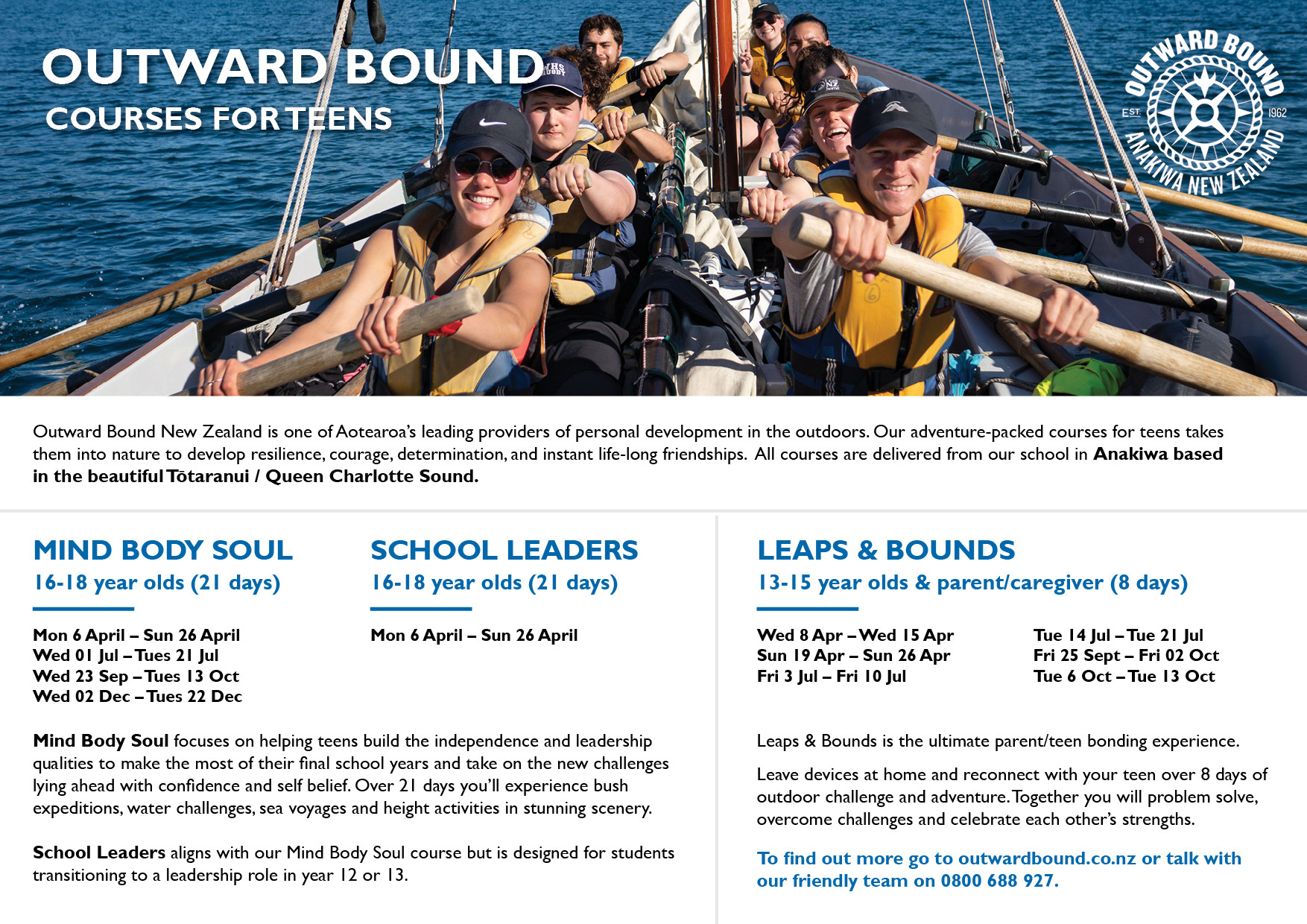 Outward Bound Nz   School Age Courses 2020