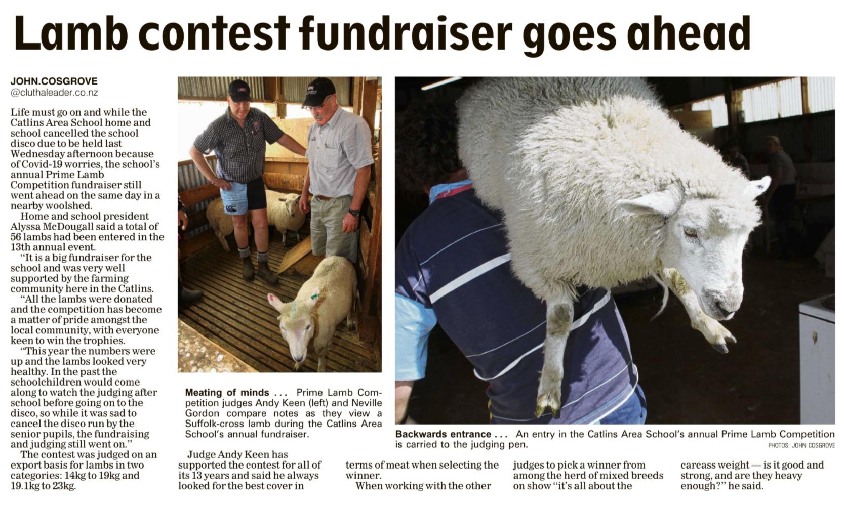 Prime Lamb Competition