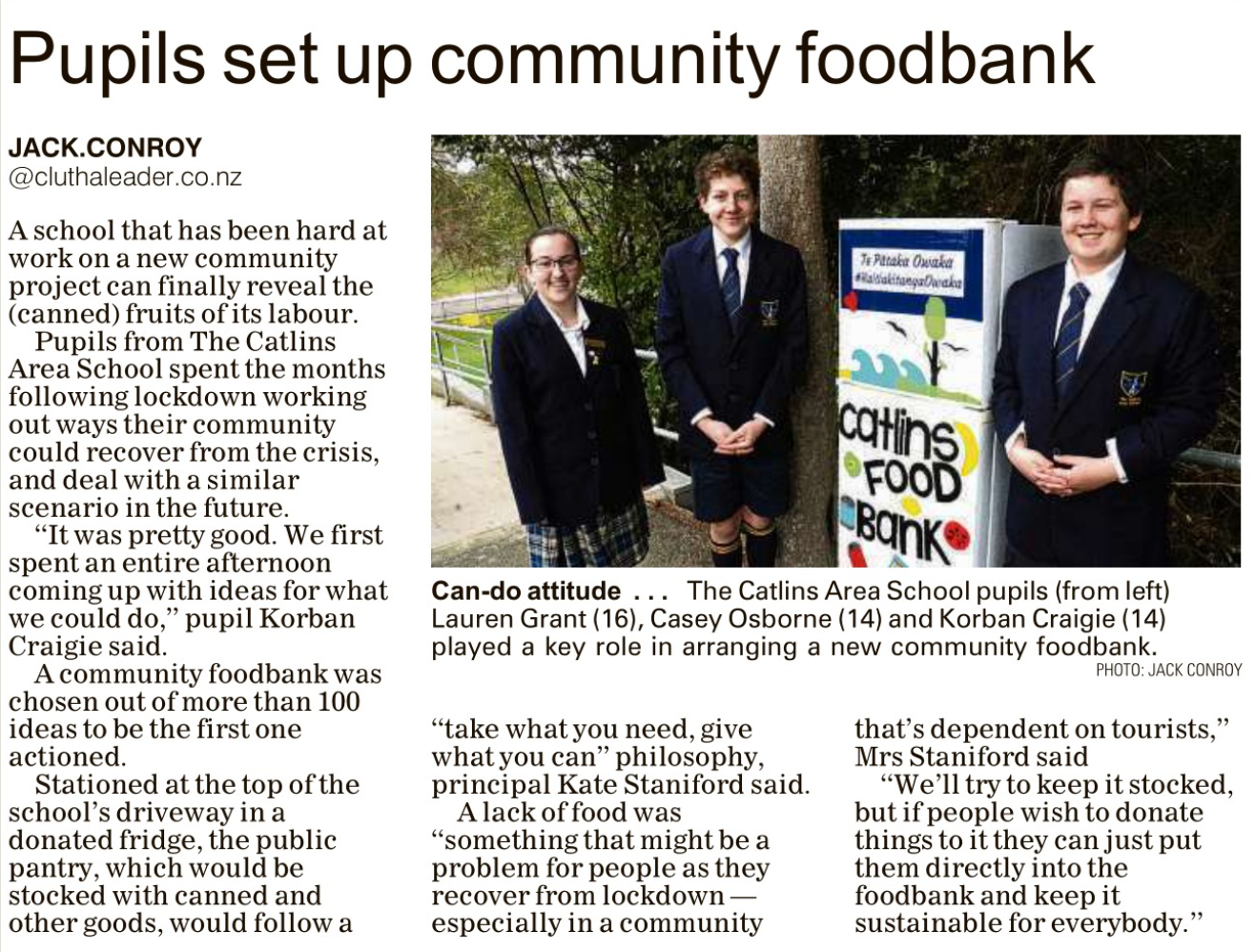 Clutha Leader   Community Pantry