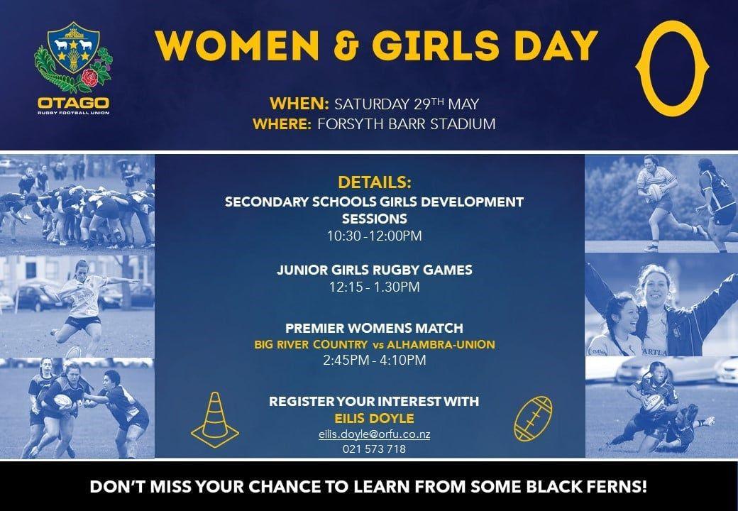 Otago Rugby Women Girls Day